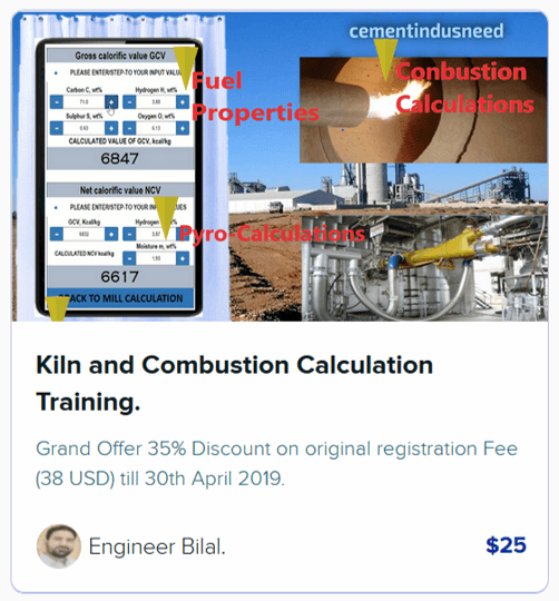 Kiln and combustion calculations