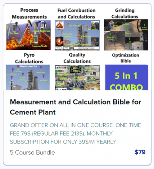 Measurement and Calculation Bible for Cement Plant
