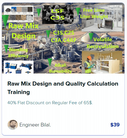Raw Mix Design and Quality Calculations
